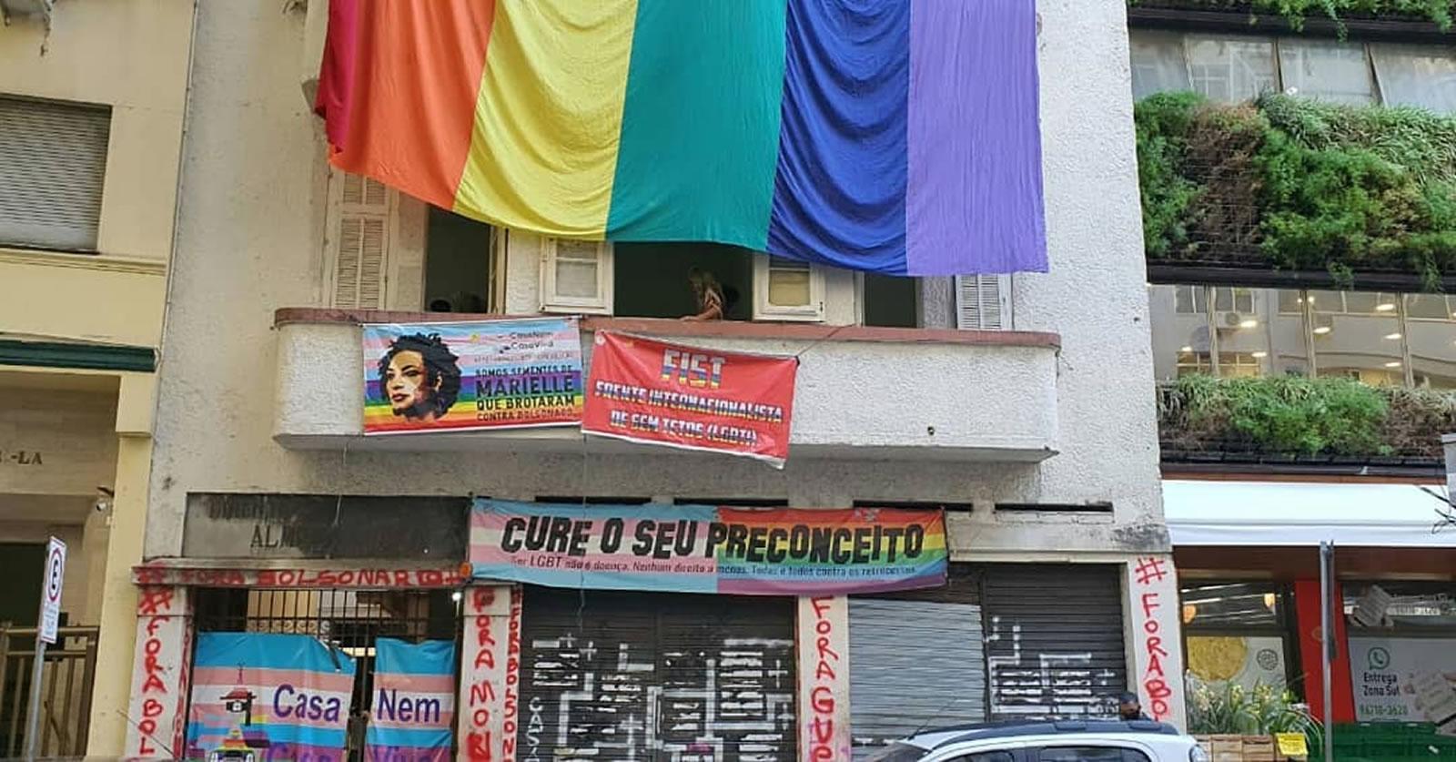 O abrigo está sob ameaça de ser despejado do prédio que ocupa em Copacabana, na zona sul do Rio de Janeiro. (Foto: Reprodução/Instagram)