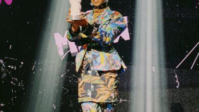 Linn da Quebrada durante o prêmio MTV Miaw 2020. (Foto: Reprodução/Twitter)