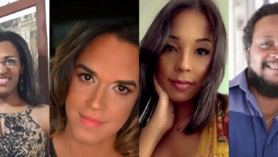 Paula Beatriz, Dayanna Louise, Mariah Rafaela e Leonardo Peçanha foram alguns dos professores trans que rebateram fala transfóbica de Ministro. — Foto: Arquivo Pessoal