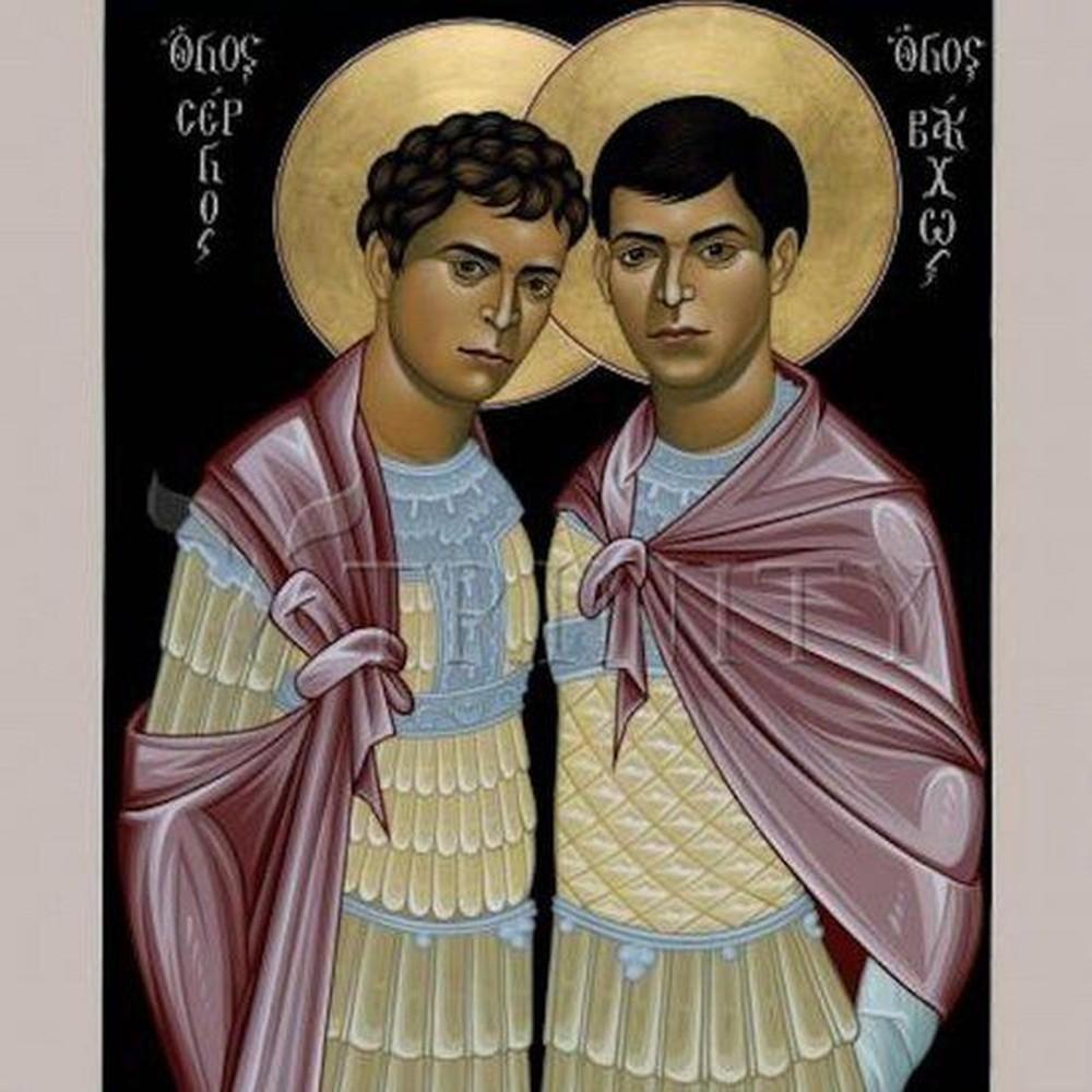 Releitura da imagem dos santos feita pelo artista e frade Robert Lentz. (Foto: Reprodução/BBC)