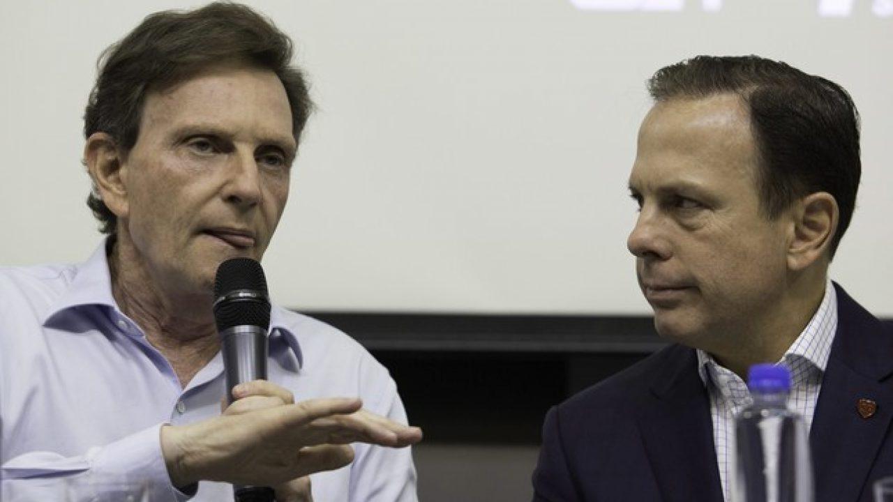 Marcelo Crivella, prefeito do Rio, e João Doria, governador de São Paulo. (Foto: Reprodução)
