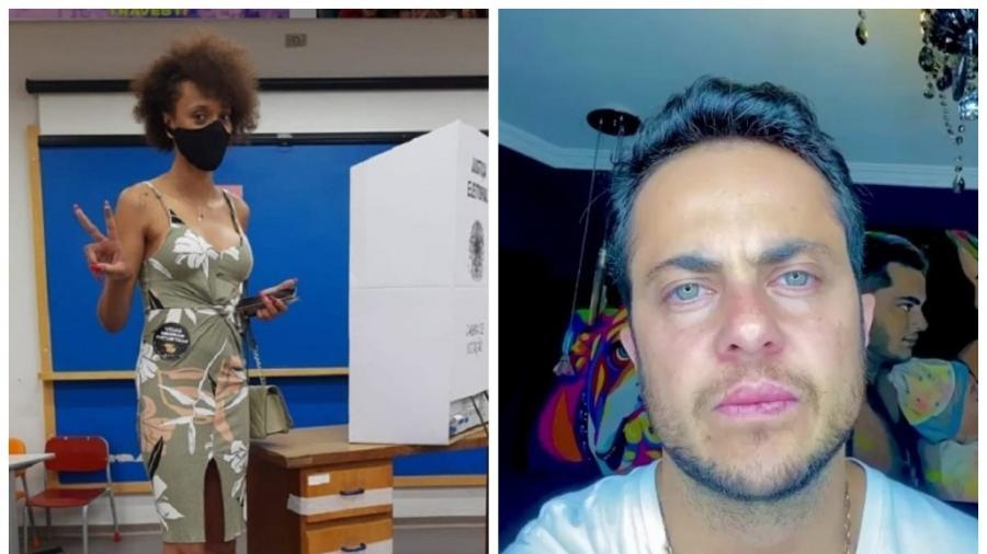 Erika Hilton (PSOL) e Thammy Miranda (PL) estão entre os dez vereadores mais votados da cidade de São Paulo nas eleições 2020. (Foto:  Reprodução/Instagram)