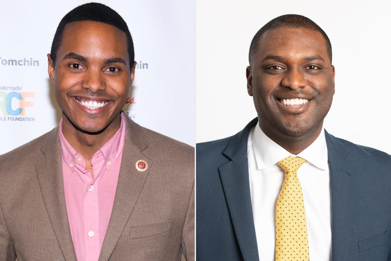 Ritchie Torres e Mondaire Jones: os dois primeiros gays negros a se elegerem para o Congresso na história dos EUA.  (Foto: Noam Galai/Getty Images)