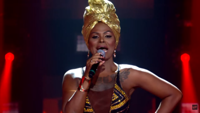 Diva Menner dedicou a canção a todas as família pretas brasileiras. (Foto: Reprodução/TV Globo)