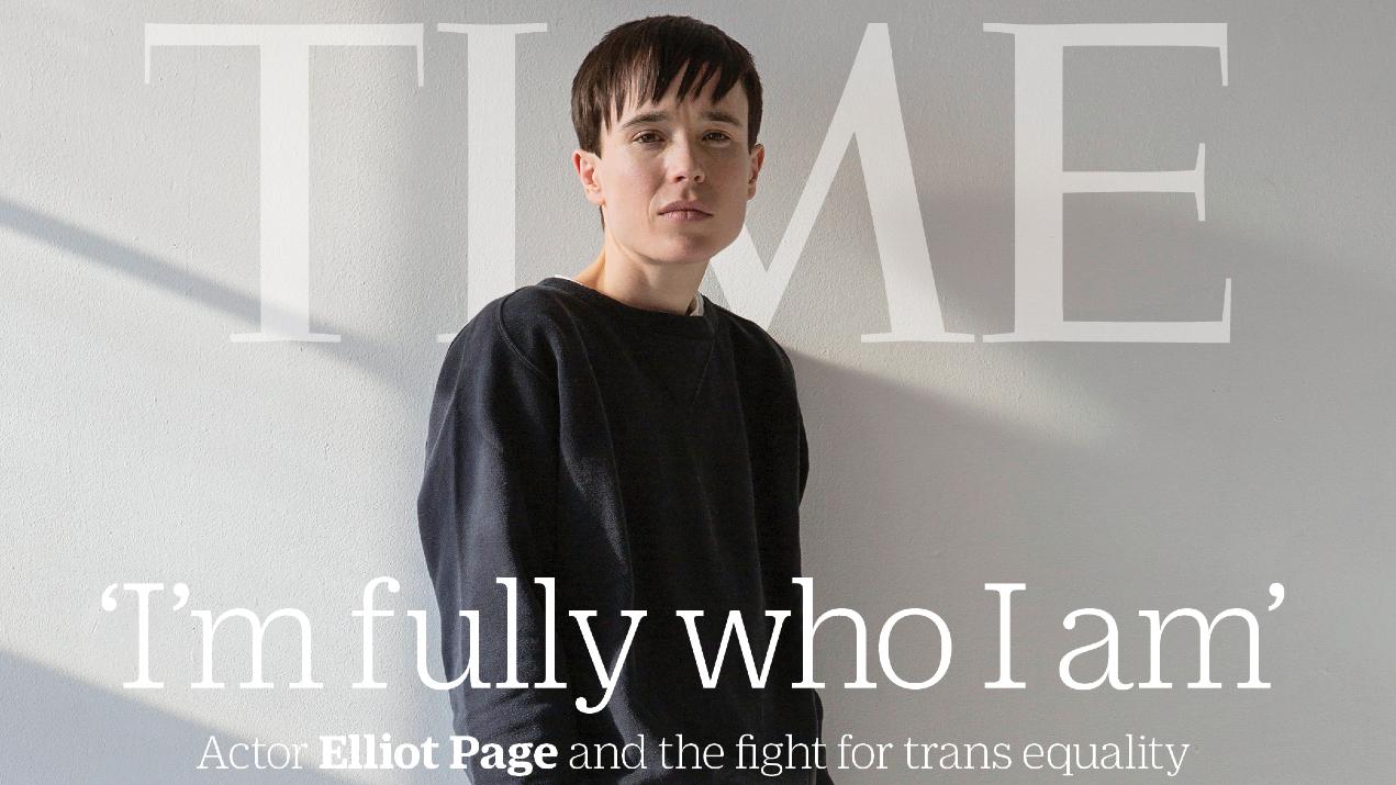 O ator Elliot Page fala de sua transição de gênero à Time. (Foto: Reprodução/Instagram)