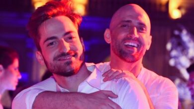 Thales Bretas e o marido Paulo Gustavo em postagem na rede social. (Foto: Reprodução/Instagram)