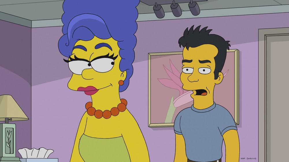 Julio, personagem de Os Simpsons, com Marge Simpson. (Foto: Divulgação)
