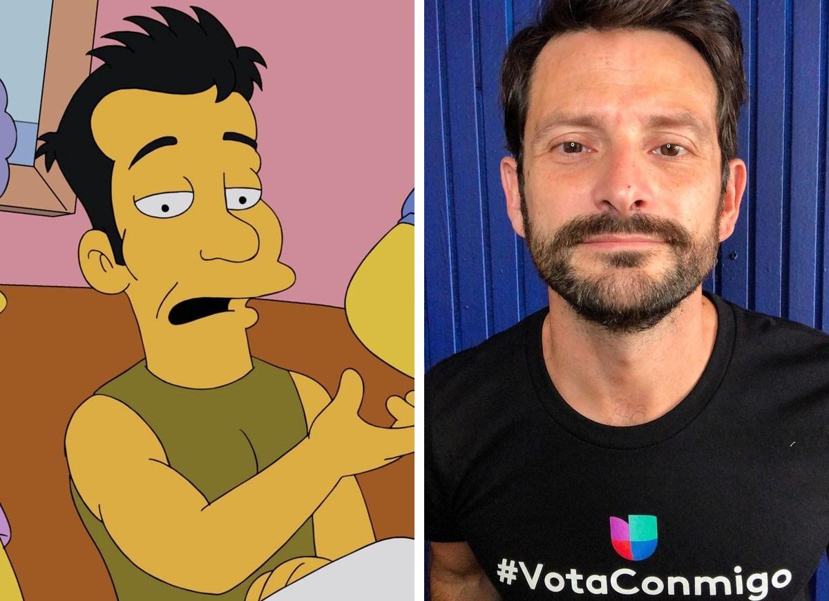 Ator Tony Rodrigues interpreta Julio em Os Simpsons. (Foto: Reprodução/Instagram/Divulgação)