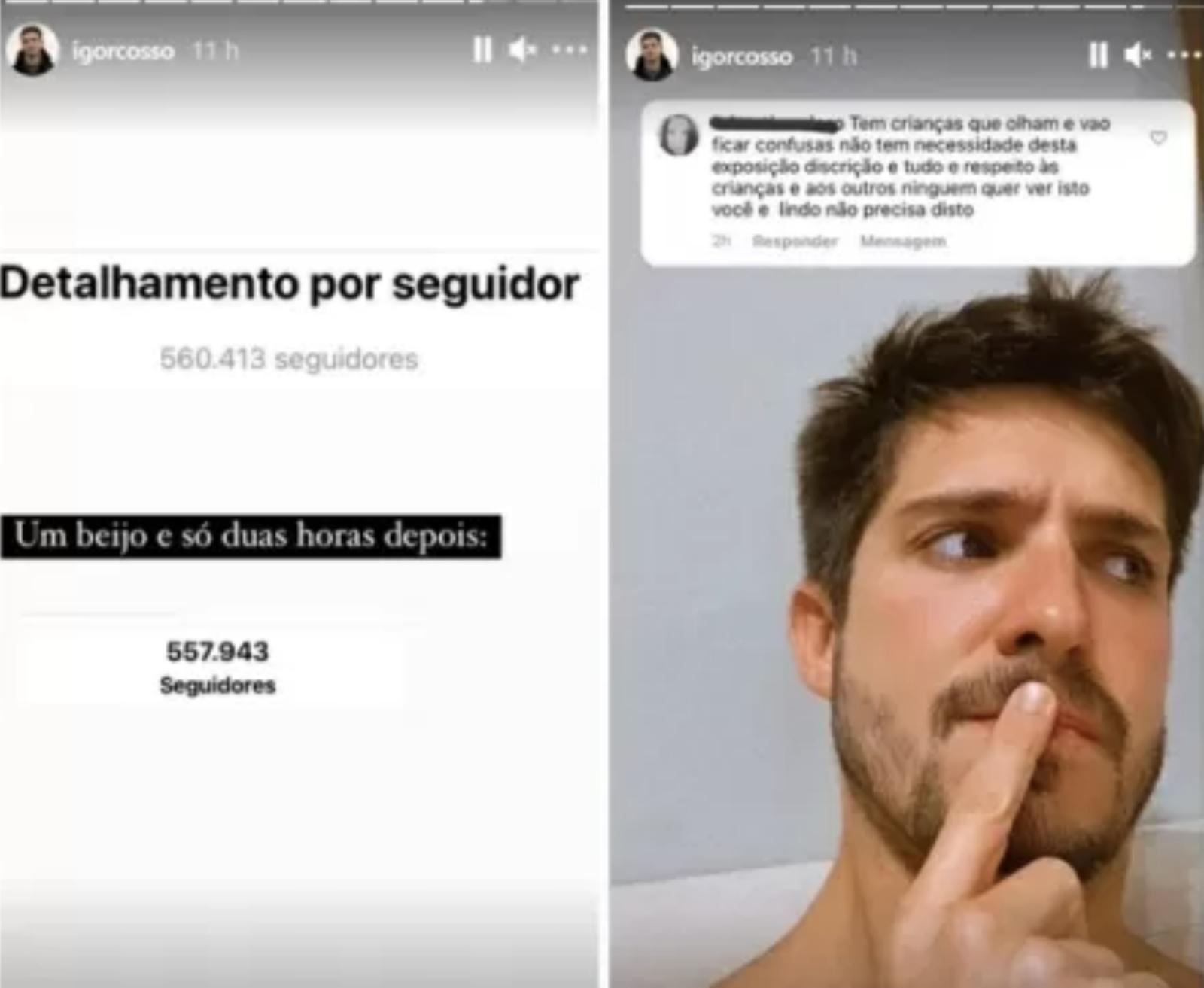 Igor Cosso fala sobre perda de seguidores. (Foto: Reprodução/Instagram)