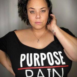WOMEN'S PURPOSE OVER PAIN T-SHIRT (BLACK)