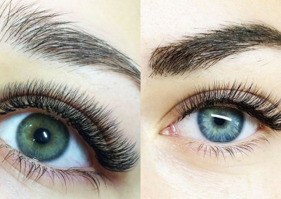Before and After Volume Lash Extensions, Gypsy Lash, Newburyport MA