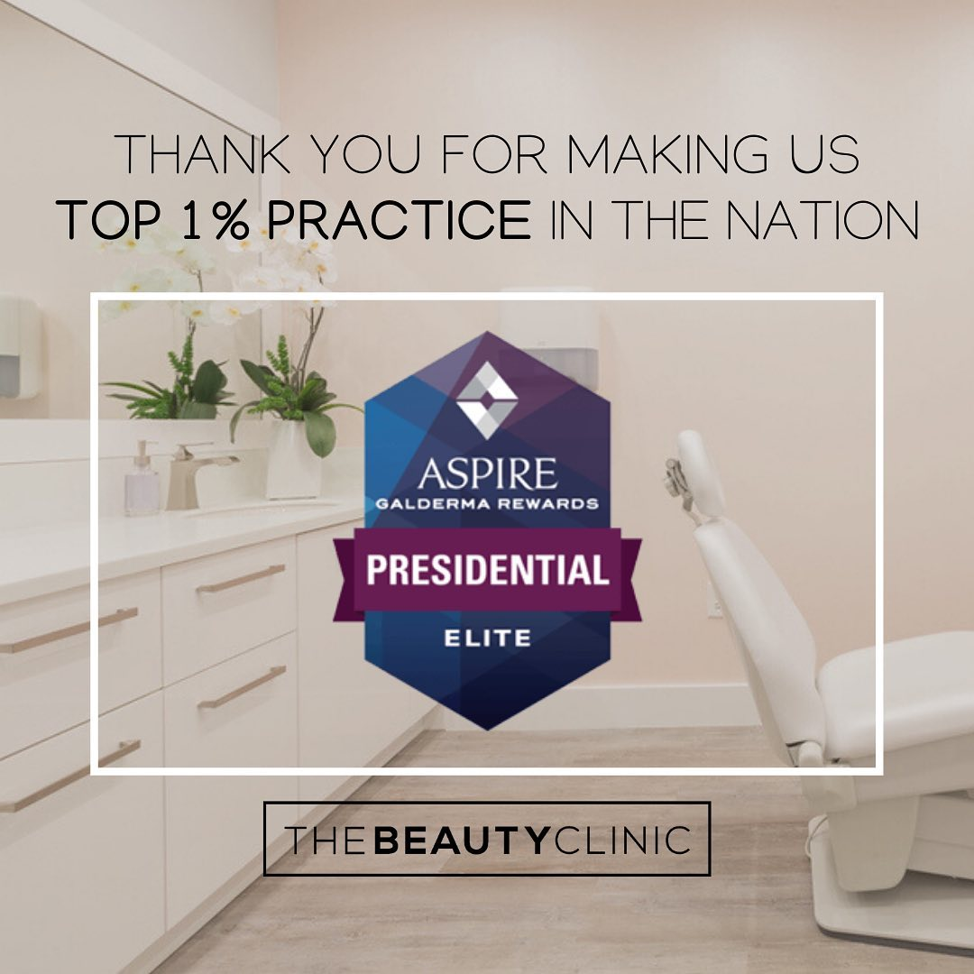 The Beauty Clinic has reached Presidential Elite Status with Galderma!
