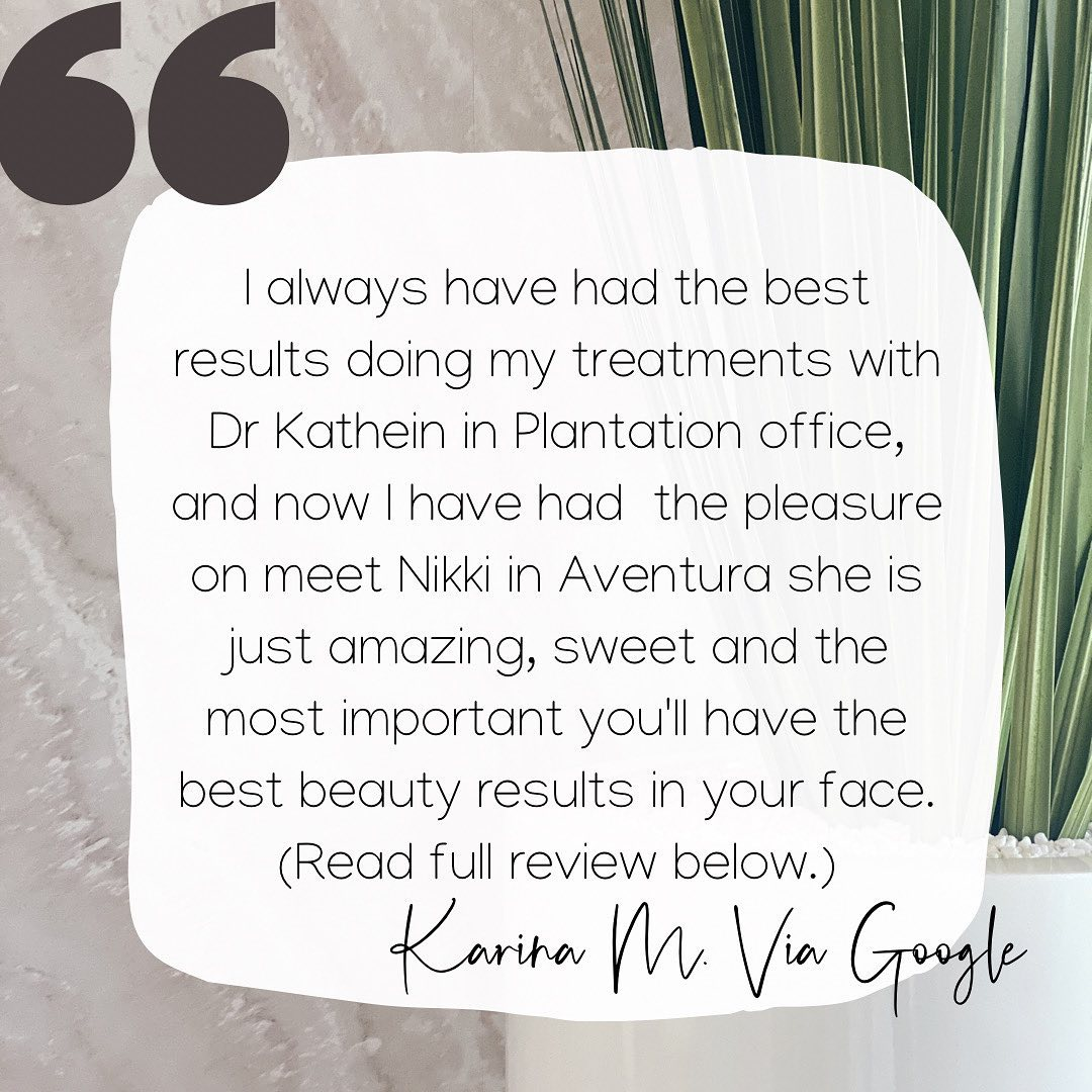 I always have had the best results doing my treatments with Dr. Kathein