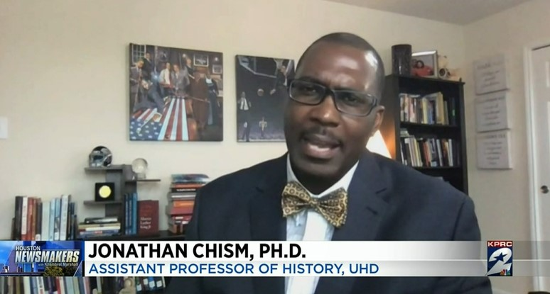Newsmakers Interview with Jonathan Chism assistant professor of Houston at University-Houston Downtown