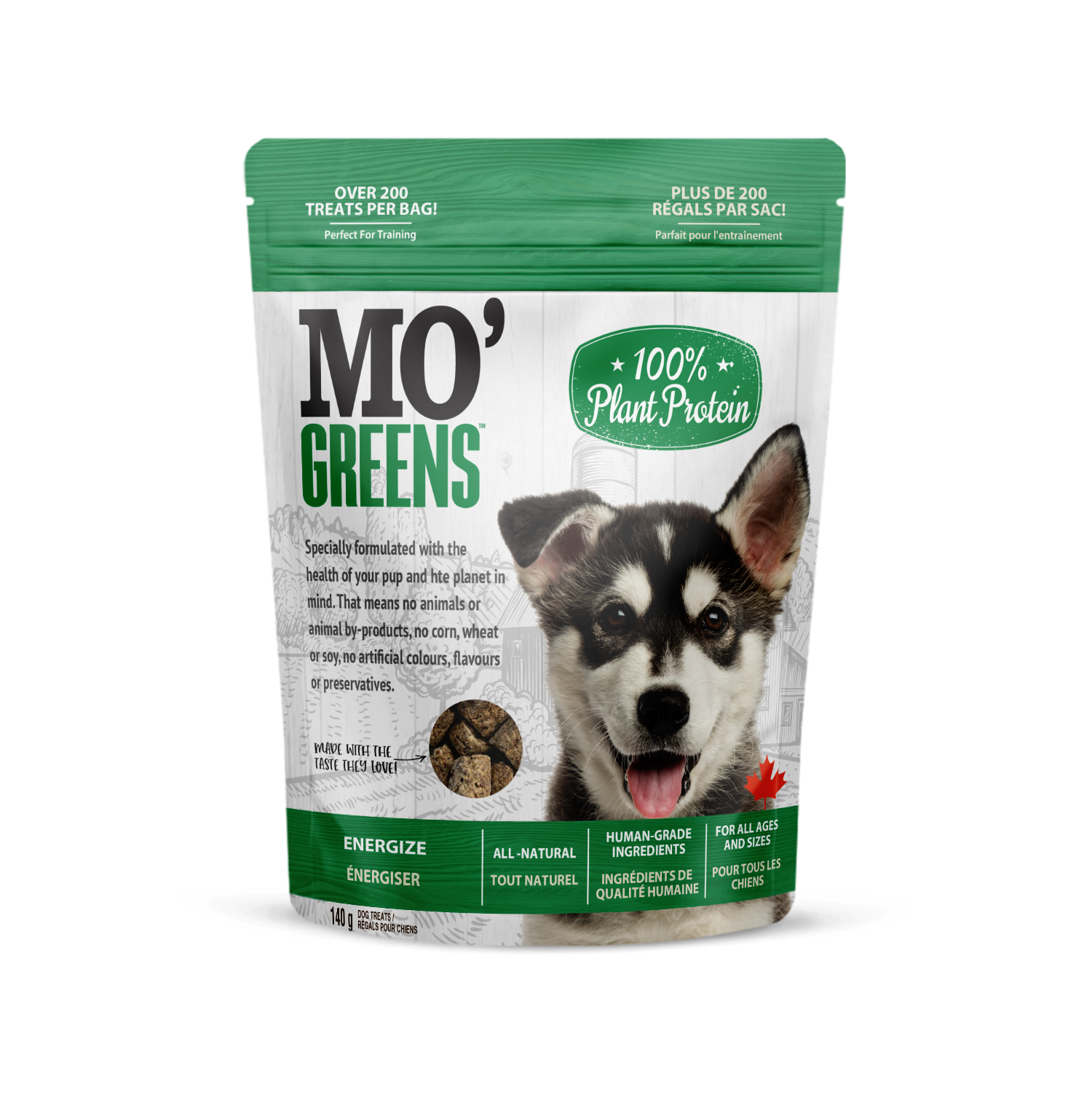 """""""Finally, a dog treat that's plant based AND has all the nutrients my dog needs! Plus the small size is perfect for training!"""""""