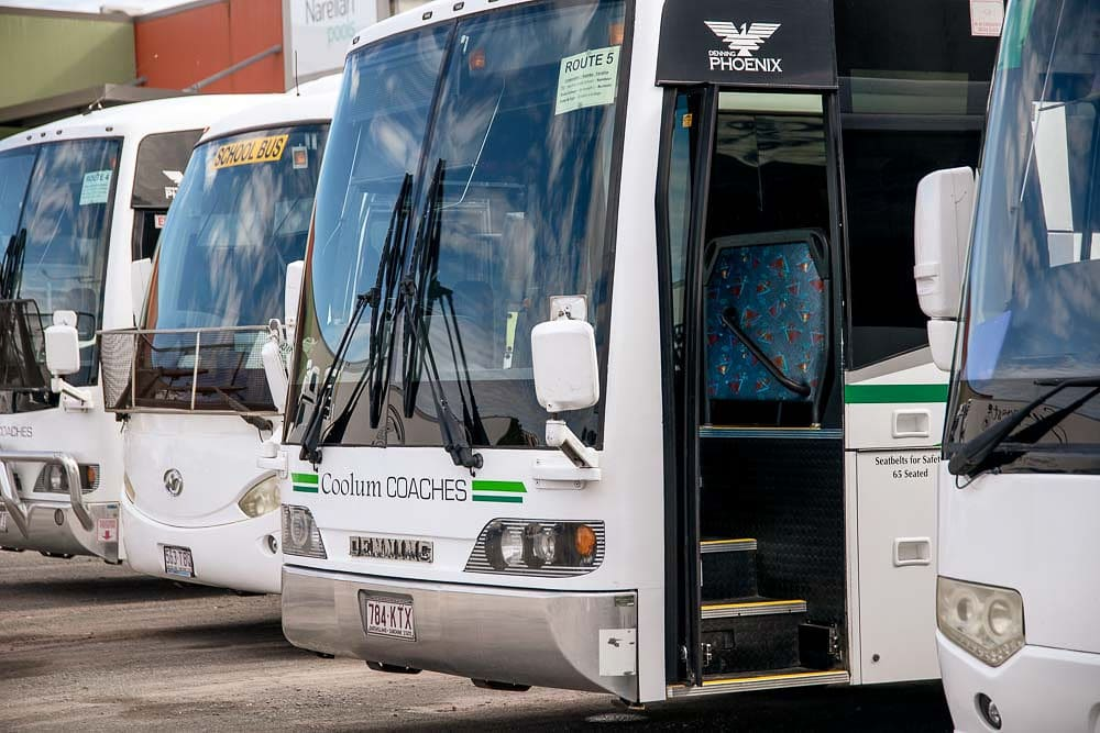 Coolum coaches fleet in sunshine coast