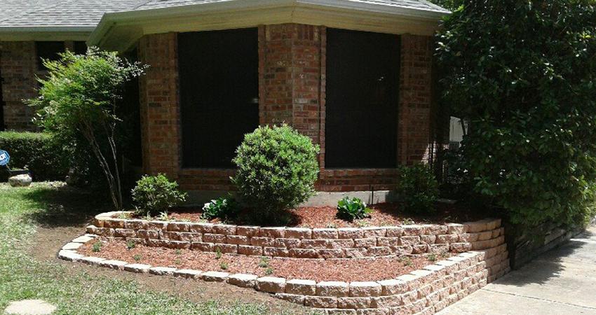 New plants/edging/retaining wall