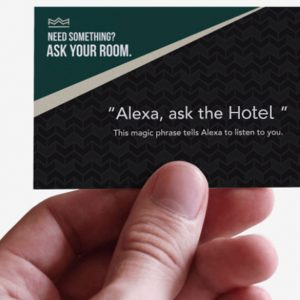 Alexa, ask the Hotel Information Card