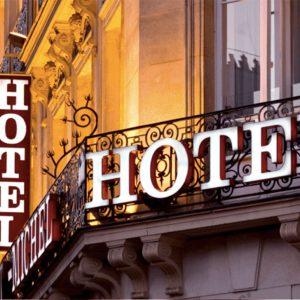 Hotel using Digital signage advertising