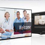 Two hospital TVs