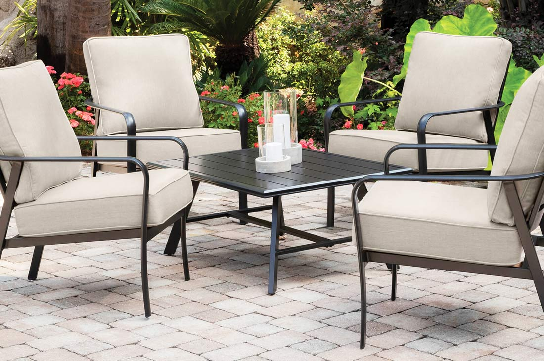 fairhill Lounge chairs and coffee table