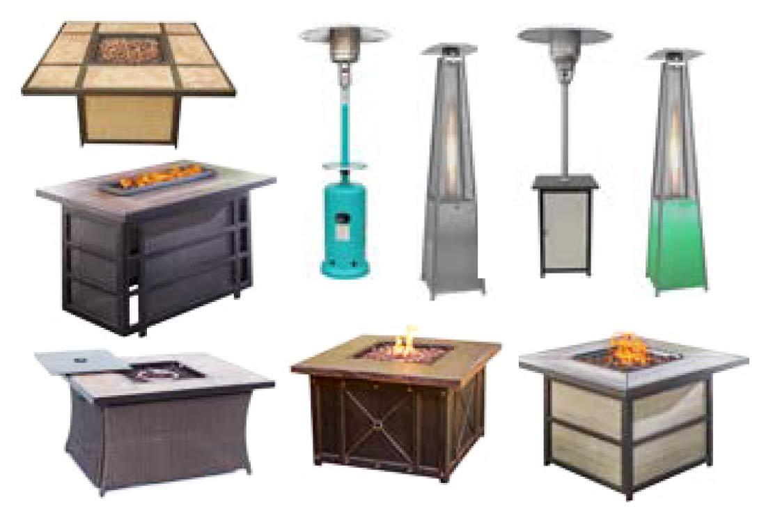 Outdoor Furniture - an assortment of fire pits