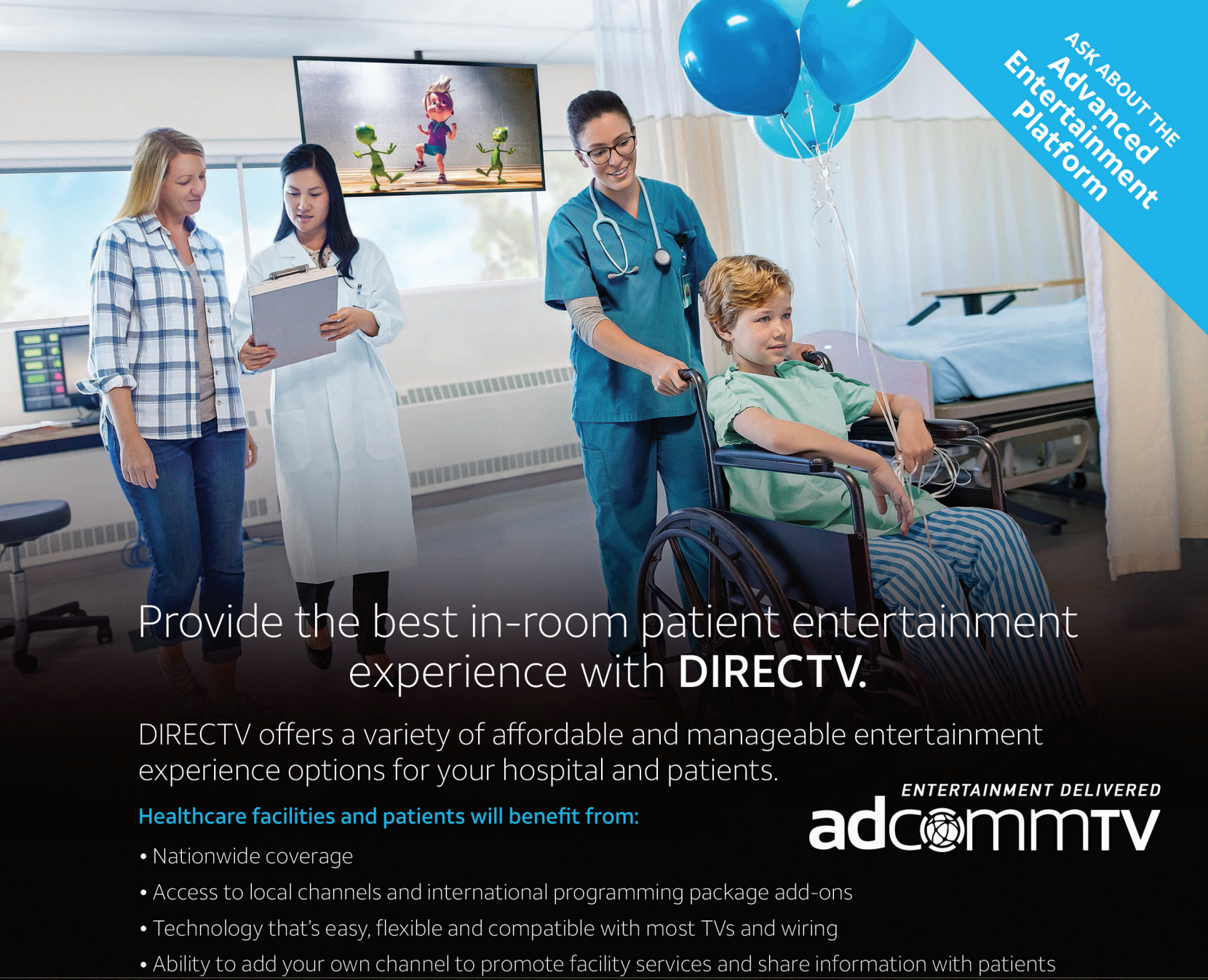 Provide the Best In-Room Patient Entertainment Experience with DIRECTV