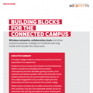 Building Blocks For The Connected Campus
