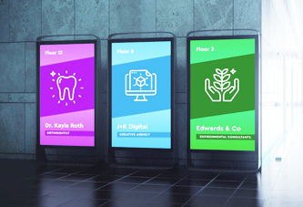 View of why to use digital signage