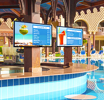 Commercial Displays by a pool