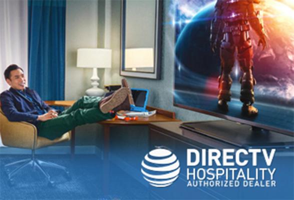 DirecTV on a Hotel TV