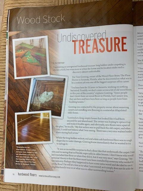 Tom Goering Featured In Hardwood Floors Magazine