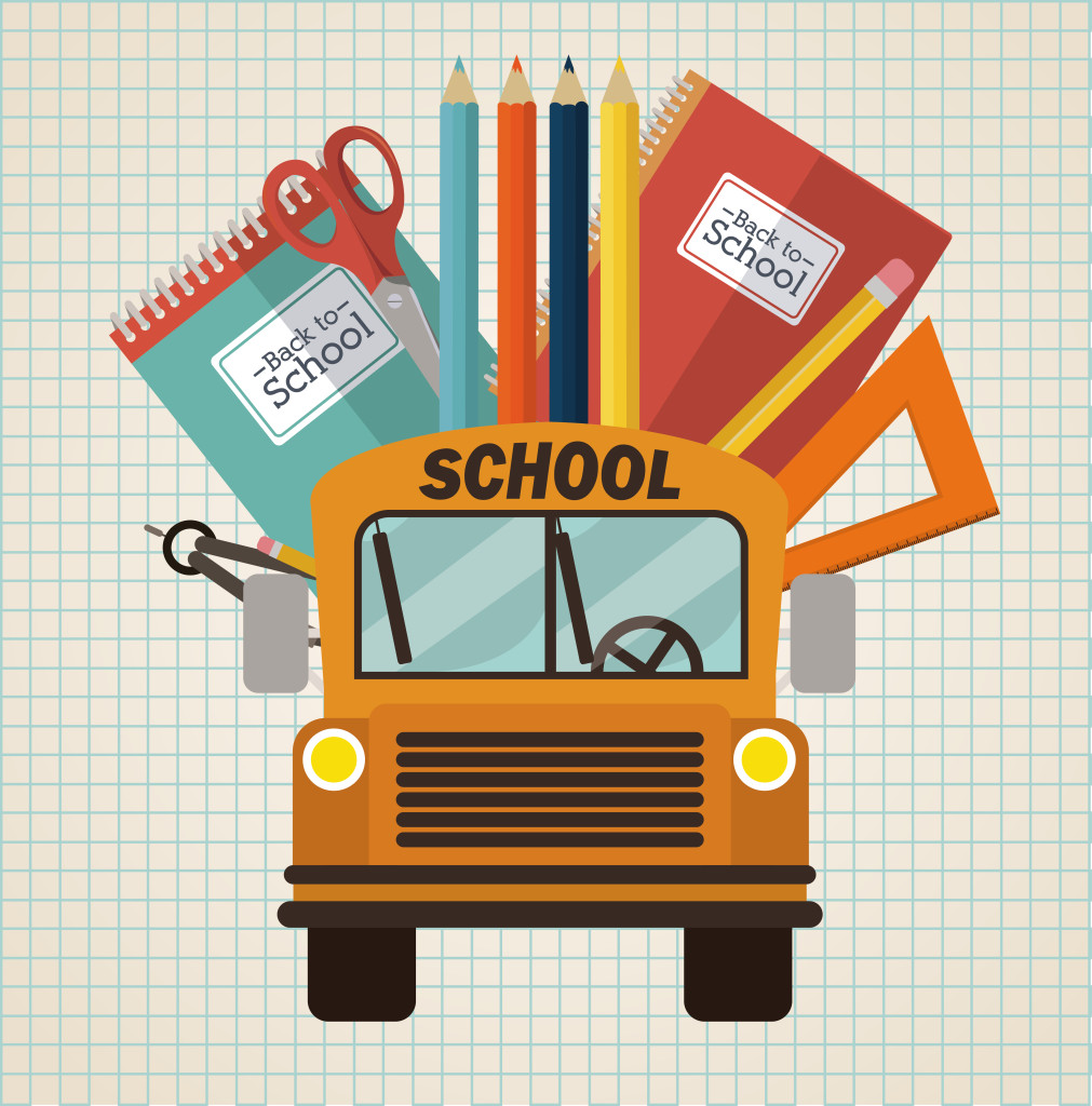 Back to school design over white background, vector illustration