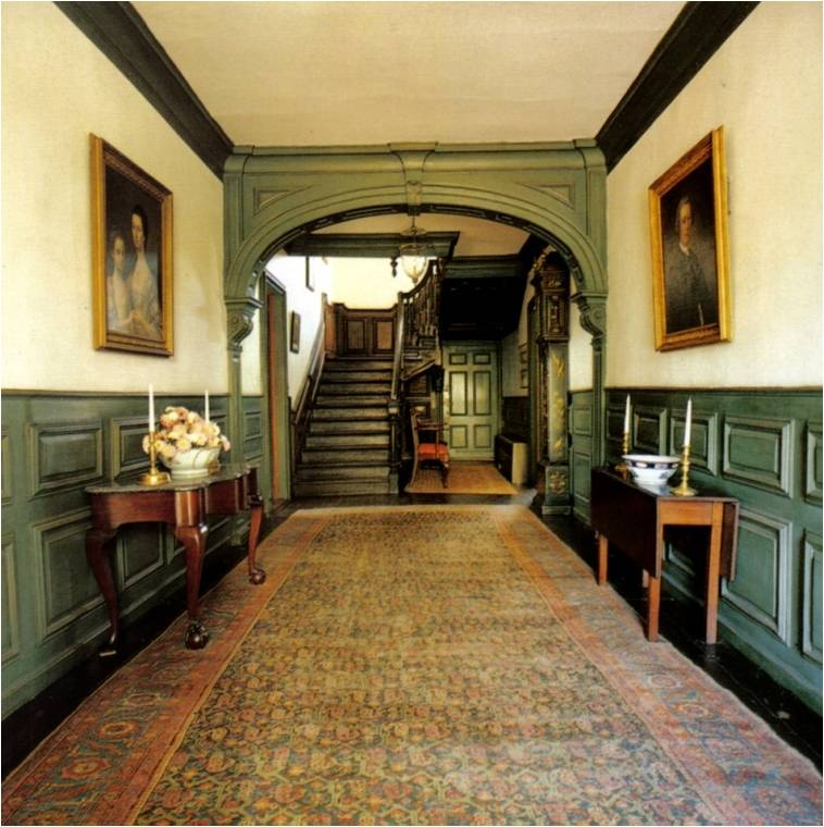 Mid-Georgian, Newport, RI, interior of Hunter House, 1748