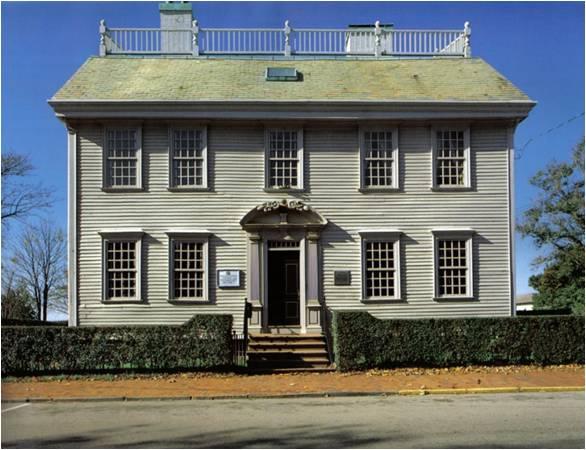 Mid-Georgian architecture, Newport, RI, Hunter House, 1748