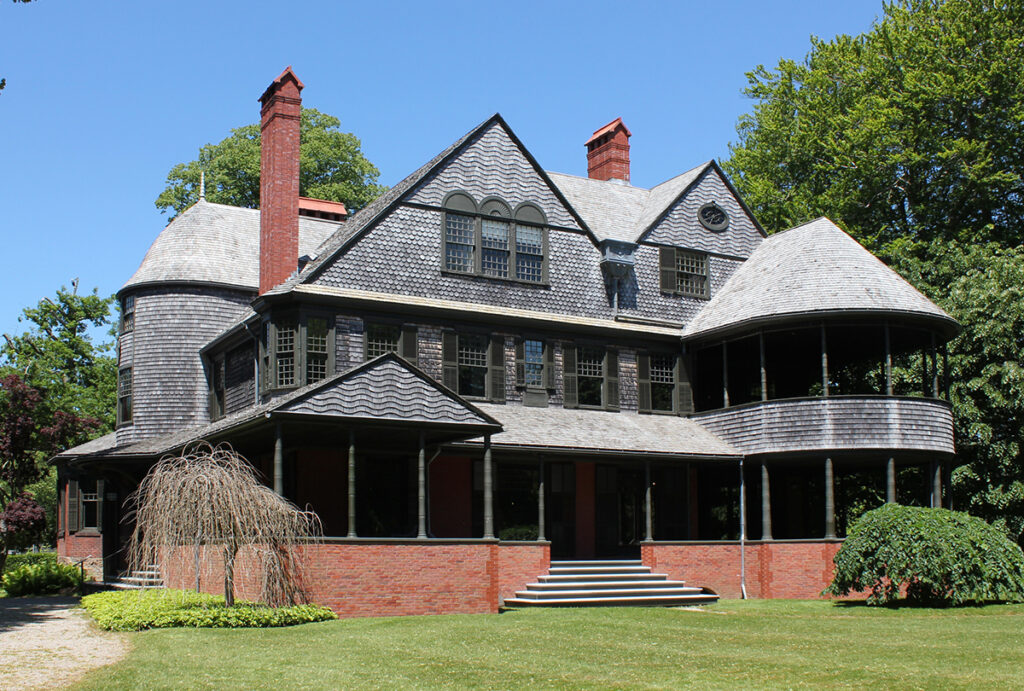 isaac bell house, shingle style