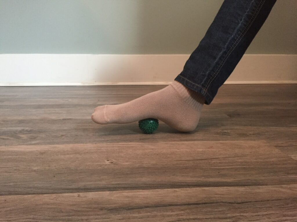 Roll stretch for plantar fasciitis