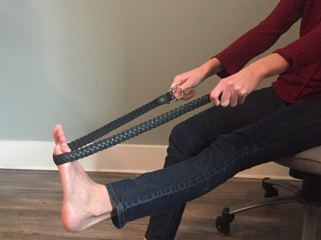 Plantar Fascia Stretch with belt