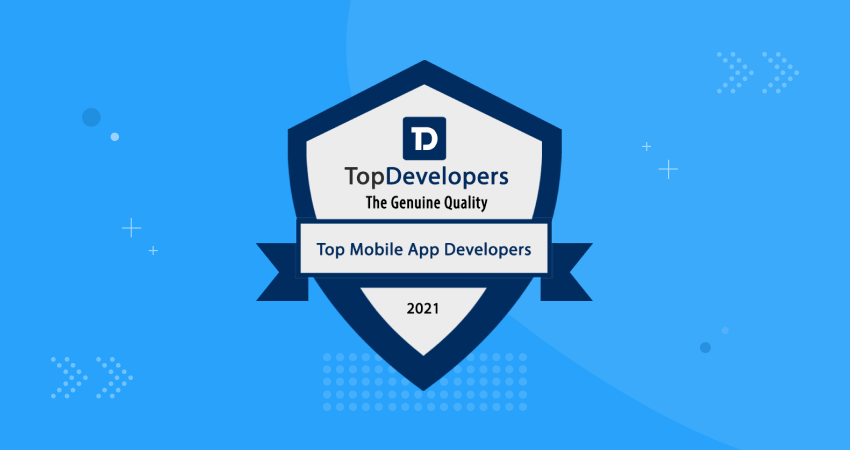 Clarika announced as a Top Mobile App Development Company of 2021 by TopDevelopers.co