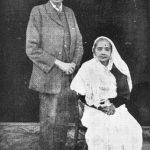 Gandhi, with Wife Kasturbhai (1914)
