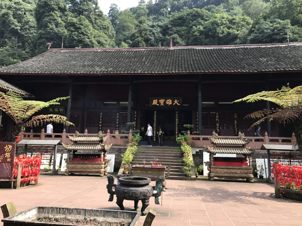 The first temple we passed