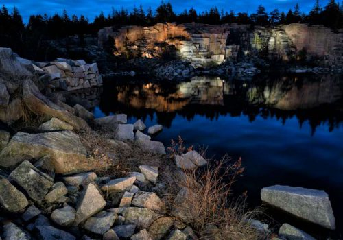 Swans Island Quarry. Photograph by Howie Motenko.