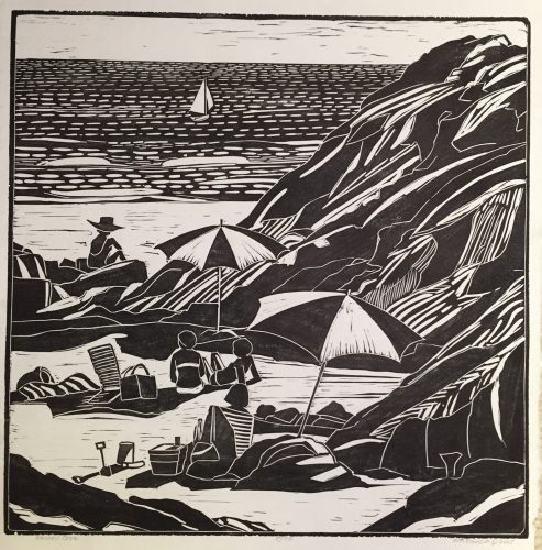 Narrow Cove, linocut – Ogunquit Maine
