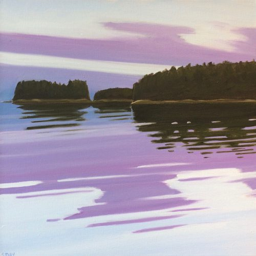 Evening Reflection, oil on canvas, by Susan Day Philbrook