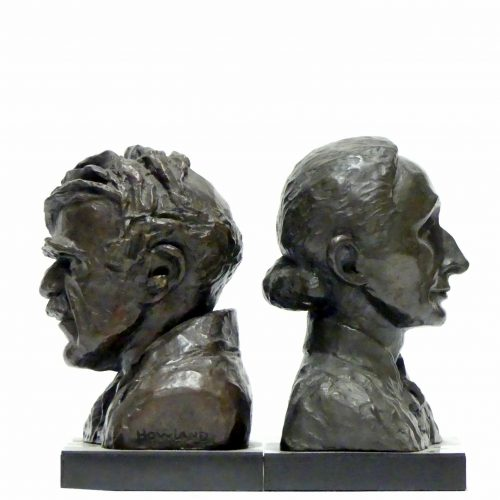 Isabella Howland (1895-1974) Caricature Bust of Alfred Stieglitz, 1948 Bronze 7.5 x 5.5 x 4 inches Museum purchase, 1970 Bust of Georgia O'Keeffe c. 1960 Bronze 5.5 x 5.5 x 4 inches 1968.15 Anonymous gift, 1968 Photo: Larry Hayden