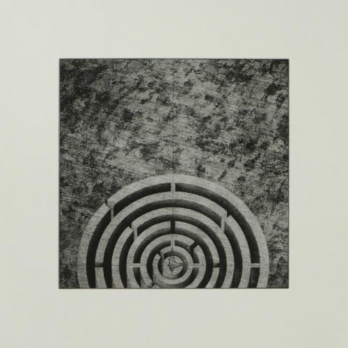 Susan Groce, Labyrinth, Photopolymer etching, 19 x 15 inches