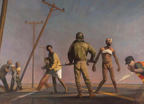 """Bo Bartlett, Damascus Road, Oil on linen, 120"""" x 168"""", Courtesy of the Lori Uddenberg Collection"""