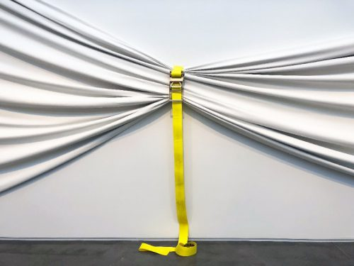 Aaron T Stephan, Untitled (ratchet strap), 2017, canvas and ratchet strap