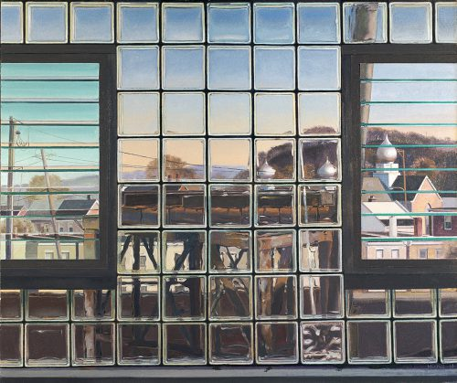 John Moore, Six O'Clock in Mill Town, 2014, oil on canvas