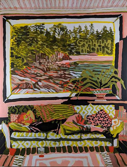 Graham Walton-Summer Dreaming-acrylic on canvas